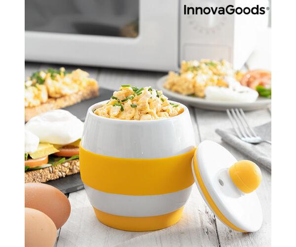 Kerámia mikrohullámú sütőben használható tojásrántotta készítő InnovaGoods