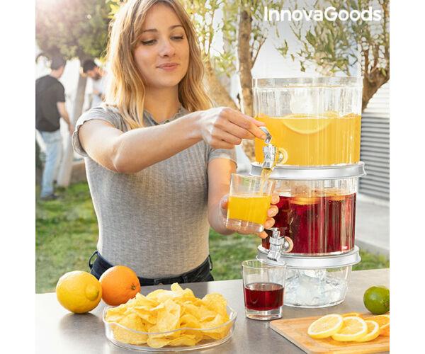 Dupla ital adagoló jégrekeszekkel és snack tálcával TwinTap InnovaGoods