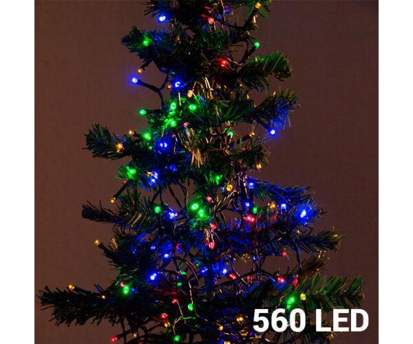 Színes Karácsonyi Fényfüzér, 560 Led, 14m