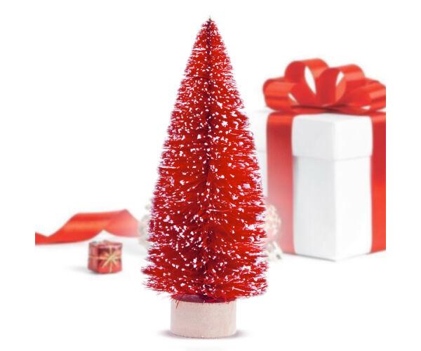 Mini Karácsonyfa (12,5 x 5 cm) Szín Piros