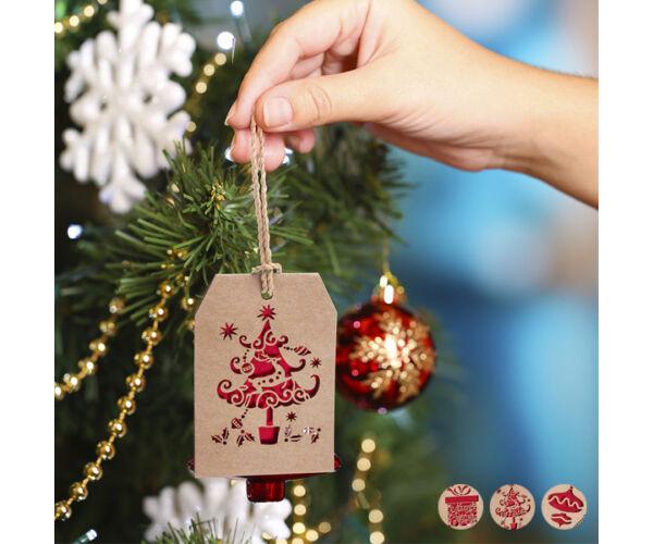 Karácsonyfagömb 145503 Minta Fa