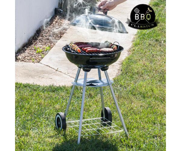 BBQ Classics Faszenes Barbecue Sütő Tetővel és Kerekekkel