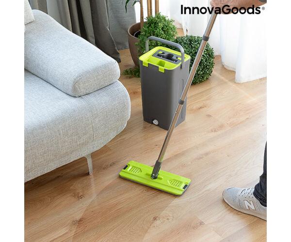 InnovaGoods Swiftmop, kettős kosár funkcióval, Zöld-Szürke